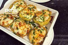 Tavuklu Patates Dolma Tarifi nasıl yapılır? 5.947 kişinin defterindeki Tavuklu Patates Dolma Tarifi'nin detaylı anlatımı ve deneyenlerin fotoğrafları burada. Baked Potato, Eggs, Potatoes, Pasta, Baking, Breakfast, Ethnic Recipes, Food, Morning Coffee