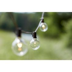 10-Light Outdoor Clear Hanging Garden String Light-KF19001 - The Home Depot  $13 for a 10 light string, get what's needed for under pargola maybe, they always look great!