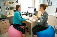 Fit Ball at the Desk
