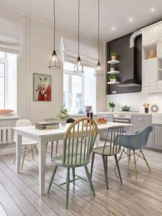 Uma coisa que estou amando pesquisar nessa nossa fase de construção são as cozinhas. Mas confesso que o modelo de cozinha escandinava é o que estou amando..