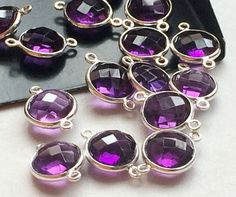 5 Pcs Hydro Amethyst Color Connectors Purple by gemsforjewels