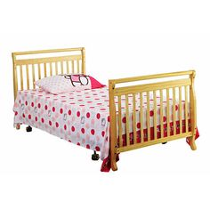 Dream On Me 3 In 1 Portable Convertible Crib   Natural   Dream On