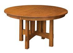 Amish Round Modesto Mission Trestle Table