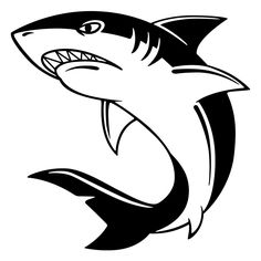 pics for u003e great white shark clipart black and white disneyland rh pinterest com great white shark clip art black and white Funny Shark Clip Art