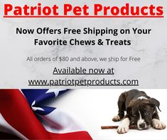 PATRIOT PET PRODUCTS is a family-owned company committed to offering only the finest natural dog treats produced in the USA. Our healthy treats are sourced only from grass-fed cattle and all natural pork, and they have no artificial additives or chemicals that are harmful to your dog. Each product is hand inspected to make sure your dog is getting only the healthiest, tastiest treat. Healthy Treats, Yummy Treats, Natural Dog Treats, Pet Products, Pets, Cattle, Grass, Range, Free Shipping