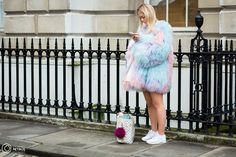 Street Style and Fashion Photography Tie Dye Skirt, Daisy, Fashion Photography, Street Style, London, Skirts, Fur, Urban Style, Skirt