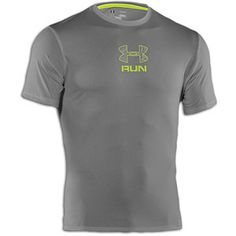 Under Armour Tough Run T-Shirt - Men's - Graphite/Velocity