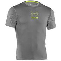 Under Armour Tough Run T-Shirt - Men's - Graphite/Velocity