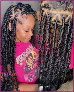 Faux Locs Hairstyles, Black Girl Braided Hairstyles, Twist Braid Hairstyles, Black Girl Braids, Baddie Hairstyles, Braids For Black Hair, Girls Braids, Black Women Hairstyles, Cute Hairstyles