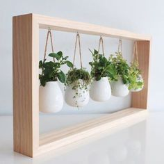 10 Charming Indoor Herb Garden Planters is part of Herb garden planter - Stop overbuying fresh herbs only to watch them spoil in the fridge Instead, get an indoor herb garden and grow your own Herb Garden Planter, Diy Herb Garden, Garden Ideas, Herbs Garden, Wall Herb Garden Indoor, Herb Wall, Wall Herb Gardens, Apartment Herb Gardens, Herb Garden Design