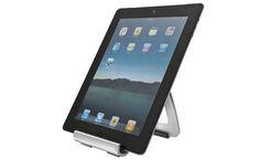 Soporte de aluminio plegable para iPad y otros tablets