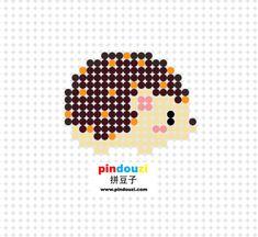 Hedgehog perler bead pattern