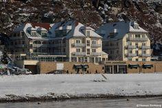 Hotel Elbschlösschen im Kurort Rathen im leichten Winterkleid.  Veranstaltungsort vom Fotofrühling Sandstein 2016
