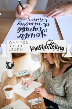 Why you should learn brush lettering. I love this! Such great reasons and I love the story