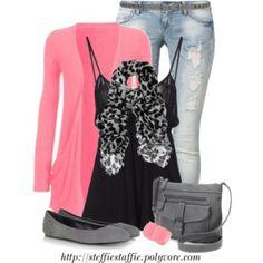 Pink & Gray Leopard