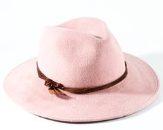 Wide Brimmed Fedora Women's Hat Spring Fashion Accessories Women's Fedora Hat Western Style Hat Baby Pink Pastel Pink Light Pink by KatarinaHats on Etsy https://www.etsy.com/uk/listing/86910979/wide-brimmed-fedora-womens-hat-spring