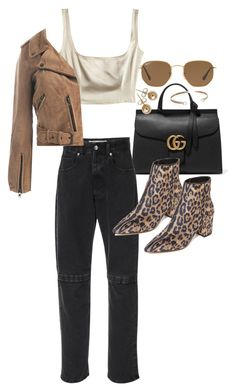 """""""Untitled #22055"""" by florencia95 ❤ liked on Polyvore featuring Gucci, Christopher Kane, Ray-Ban, Steven, Bling Jewelry, Belk & Co. and Sans Souci"""