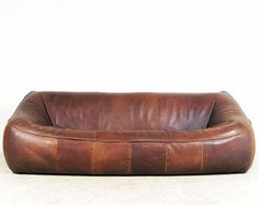 Lounge Sofa by Gerard van den Berg made by Montis in the 70s neck leather good condition with patina 220cm x 110cm x 70cm ...
