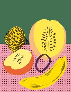 Food & Flowers - elenaboils illustration