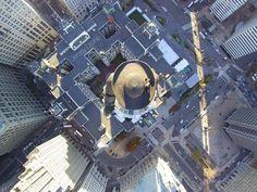Center City Philadelphia - Aerial view! Beautiful City Hall Building.