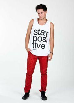 Stay Positive - Men's Tank Top  #mensfashion #paperalligator #umbrellaclothing