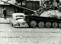 in Prague, Operation Danube, August 1968 Prague Spring, Visit Prague, Military Armor, Old Photography, East Germany, Political Events, Cold War, Armed Forces, Old Photos