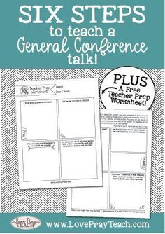 Six Steps to Teach a General Conference Talk! PLUS free printable! Relief Society Lesson Helps, Relief Society Lessons, Relief Society Activities, Conference Talks, General Conference, Conference Board, Lds Primary Lessons, Youth Lessons, Fhe Lessons