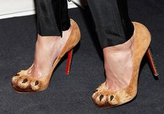 louboutin lion paw pumps... @Alissa Morris creepy or cool? I kinda like them.