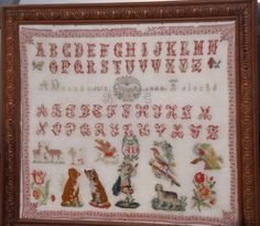 An Early 20th Century FRENCH Sampler Stitched By A Dronne & Dated 1906
