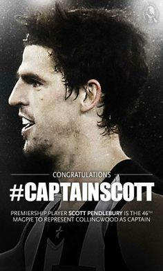 New Captain 2014 Collingwood Football Club, Captain Scott, Australian Football, Magpie, My Boys, Athletes, Hot, Board, People