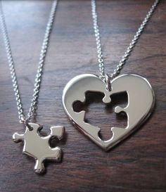 Omg i wanna get one of these for me and my bestie! #puzzlepiece