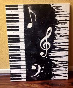 Piano Melted Crayon Art