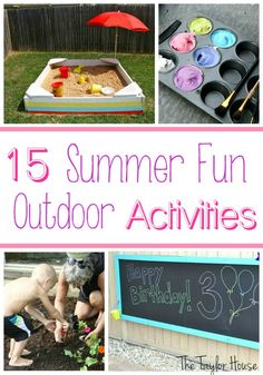 Great summer outdoor activities