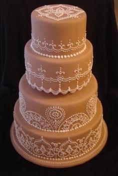 Henna Wedding Cake By cakesbyallison on CakeCentral.com