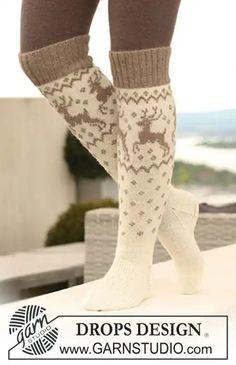 long knit socks Wool socks Norwegian socks Fair Isle Christmas socks socks with reindeer Winter socks Warm socks gift to man gift to woman – Knitting Socks Winter Socks, Warm Socks, Winter Wear, Autumn Winter Fashion, Winter Holiday, Looks Country, Cute Socks, Drops Design, Alpacas