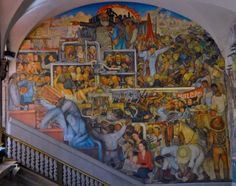 Diego Rivera mural, Palacio Nacional Mexico City. Among so many places decorated by the muralists, including also the Secretaria de Educacion and the Mercado Rodriguez, just to the north in Republica de Venezuela, a walk from where we will be staying in a couple of weeks time.