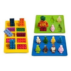 LUCENTEE New Lucentee Silly Candy Molds & Ice Cube Trays - Lego Building Bricks and Figures - Home - Kitchen - Kitchen Storage - Kitchen Shelving