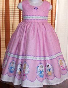 Disney PRINCESS Dress CUSTOM in pink by bexclusive on Etsy, $40.00