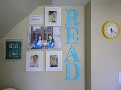 Instead of ABC wall, use a collage of words in different fonts. READ, PLAY, SHARE, EXPLORE, DREAM, etc.
