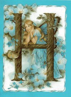 Fairy Land, Fairy Tales, Kobold, Fairy Pictures, Vintage Fairies, Alphabet Art, Cross Stitch Art, Beautiful Fairies, Flower Fairies
