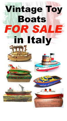 Vintage Toy Boats / Watercraft For Sale in Italy Vintage Toys For Sale, Boats For Sale, Toy Sale, Old Toys, Water Crafts, Coffee Cans, Italy, Food, Italia