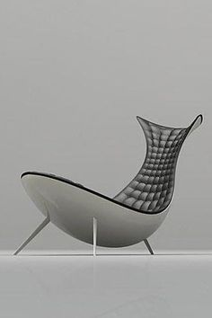 LC-019 a daytime bed or lounge chair in black and aluminum | long chair . Liegestuhl . chaise longue | Design: Michael CK Chan |