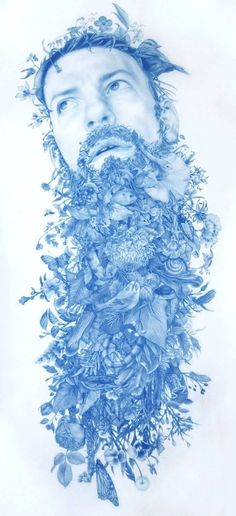 Wild Man Blue Drawings – Fubiz Media