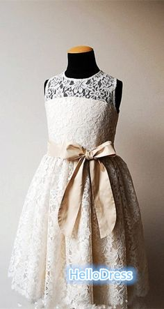 Hey, I found this really awesome Etsy listing at https://www.etsy.com/listing/185856106/short-white-ivory-lace-flower-girl-dress