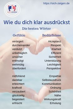 The power of emotions: how to expand your vocabulary - This is only a small number of emotion and need words. If you want to increase your vocabulary, down - Feelings List, German Language Learning, Learn German, Psychology Quotes, Personality Psychology, Health Psychology, Color Psychology, Writing A Book, Good To Know