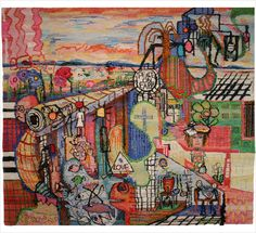 A Day in Life ¦ 2012 Wool, linen, silk, cotton; woven 56.5″ x 63″ Sweden