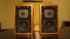 """Spendor LS3/5a 15 ohms """"white belly"""" Monitor Speakers, Bookshelf Speakers, Floor Standing Speakers, Audio Room, High End Audio, Loudspeaker, Diys, Electronics, Vintage"""