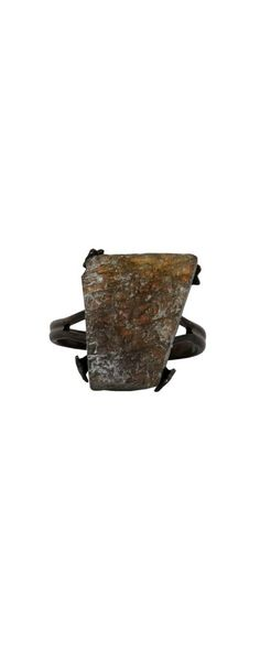 Unpolished Stone Ring in Charcoal  www.lilyboutique.com