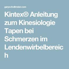 Kintex® Anleitung zum Kinesiologie Tapen bei Schmerzen im Lendenwirbelbereich