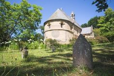 Old headstone of a grave made from granite with the Belvedere Church outside Knysna in South Africa Stock Photo - 2905682 Knysna, Cathedral Church, Lush Garden, Place Of Worship, Afrikaans, Cathedrals, West Coast, Wilderness, Granite